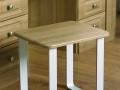 Modern stool with metal legs