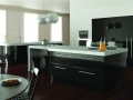 metallic black kitchen