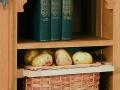 cabinet with corner brackets