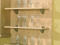 Matching shelves/brushed steel brackets