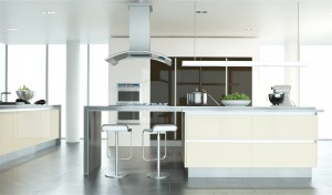 Ultra Gloss Chocolate and Cream Kitchen